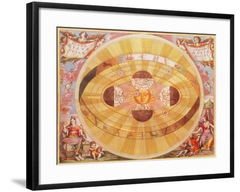The Copernican System, 1543-Andreas Cellarius-Framed Art Print
