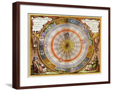 Copernican Solar System, 1660-Andreas Cellarius-Framed Art Print