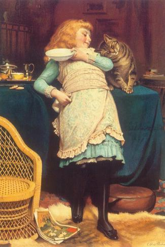 Coaxing Is Better Than Teasing, 1883-Charles Burton Barber-Stretched Canvas Print