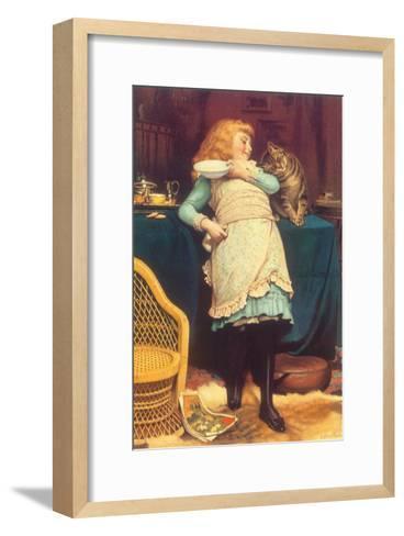 Coaxing Is Better Than Teasing, 1883-Charles Burton Barber-Framed Art Print