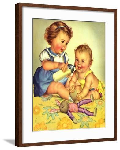 Playing Mother, 1950-Charlotte Becker-Framed Art Print