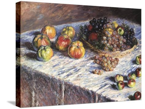 Still-Life: Apples and Grapes, 1880-Claude Monet-Stretched Canvas Print