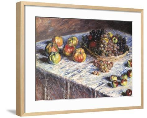 Still-Life: Apples and Grapes, 1880-Claude Monet-Framed Art Print