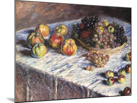 Still-Life: Apples and Grapes, 1880-Claude Monet-Mounted Giclee Print