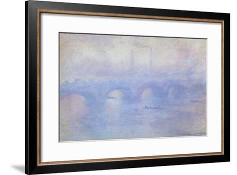 Waterloo Bridge: Effect of Mist, 1903-Claude Monet-Framed Art Print