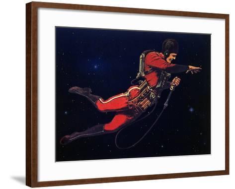 Sci Fi - Gravitron Jet Pack, 1928-Frank R^ Paul-Framed Art Print