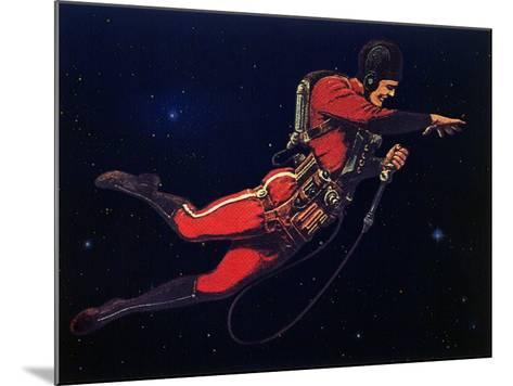 Sci Fi - Gravitron Jet Pack, 1928-Frank R^ Paul-Mounted Giclee Print