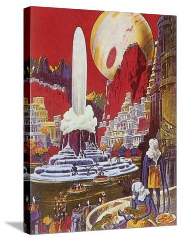 Futuristic City, 1941-Frank R^ Paul-Stretched Canvas Print