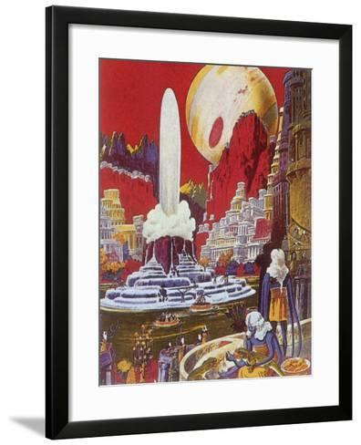 Futuristic City, 1941-Frank R^ Paul-Framed Art Print