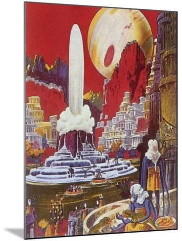 Futuristic City, 1941-Frank R^ Paul-Mounted Giclee Print