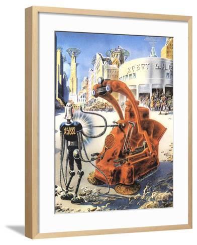 Sci Fi - Futuristic Robots, 1953-Frank R^ Paul-Framed Art Print