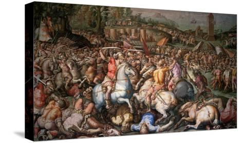 Assault on Pisa, 1565-Giorgio Vasari-Stretched Canvas Print