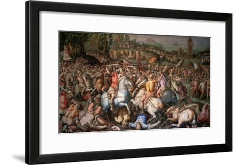 Assault on Pisa, 1565-Giorgio Vasari-Framed Art Print