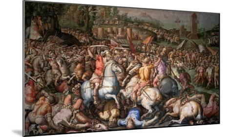 Assault on Pisa, 1565-Giorgio Vasari-Mounted Giclee Print