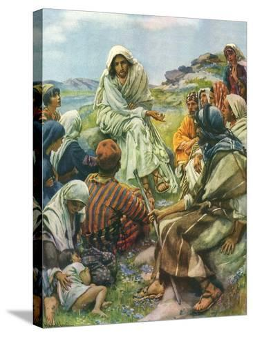 Sermon on the Mount, 1922-Harold Copping-Stretched Canvas Print