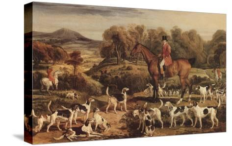 Ralph Lambton and His Hounds, 1820-James Ward-Stretched Canvas Print
