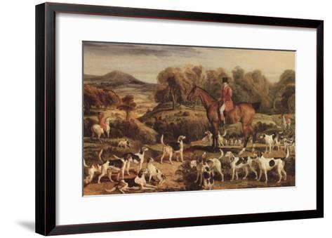 Ralph Lambton and His Hounds, 1820-James Ward-Framed Art Print