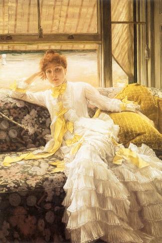 July (Speciment of a Portrait), 1878-James Tissot-Stretched Canvas Print