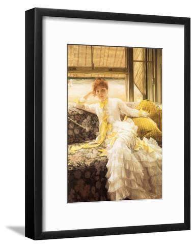 July (Speciment of a Portrait), 1878-James Tissot-Framed Art Print