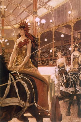 Circus Performers, 1884-James Tissot-Stretched Canvas Print
