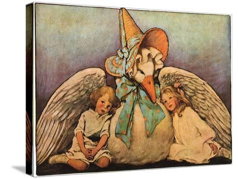 Mother Goose, 1914-Jessie Willcox-Smith-Stretched Canvas Print