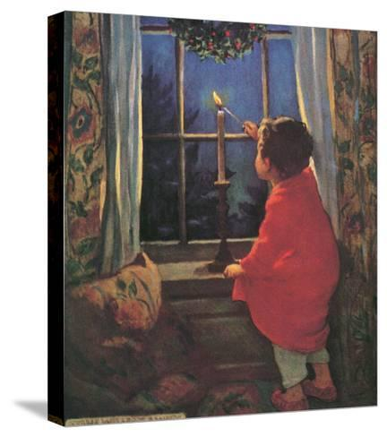 Child Lighting Candle-Jessie Willcox-Smith-Stretched Canvas Print