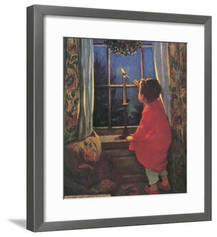 Child Lighting Candle-Jessie Willcox-Smith-Framed Art Print