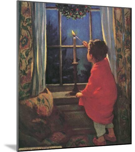 Child Lighting Candle-Jessie Willcox-Smith-Mounted Giclee Print