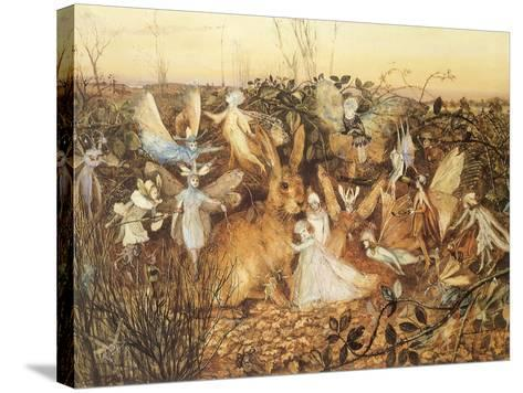 Rabbit and Fairies, 1880-John Anster Fitzgerald-Stretched Canvas Print
