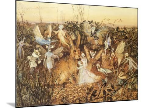 Rabbit and Fairies, 1880-John Anster Fitzgerald-Mounted Giclee Print