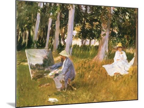 Monet Painting Woods, 1888-John Singer Sargent-Mounted Giclee Print