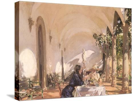 Breakfast in the Loggia, 1910-John Singer Sargent-Stretched Canvas Print