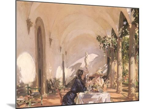 Breakfast in the Loggia, 1910-John Singer Sargent-Mounted Giclee Print