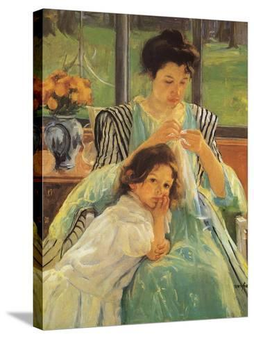 Young Mother Sewing, 1900 Giclee Print by Mary Cassatt ...