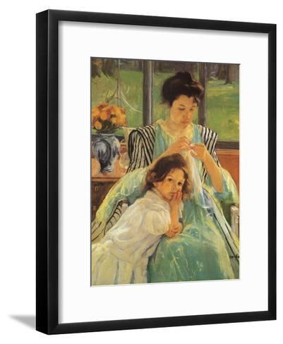 Young Mother Sewing, 1900-Mary Cassatt-Framed Art Print