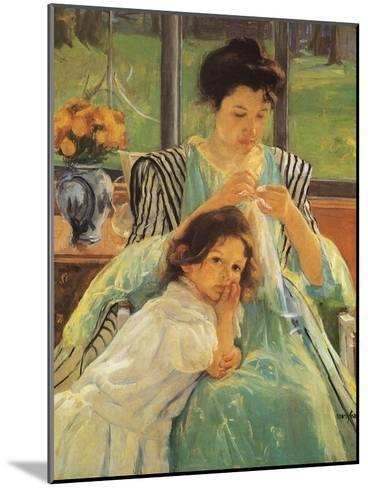 Young Mother Sewing, 1900-Mary Cassatt-Mounted Giclee Print