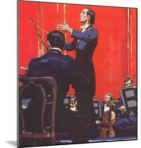 Conducting Orchestra-Mead Schaeffer-Mounted Giclee Print