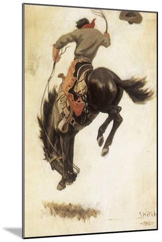 Man on Bucking Bronco, 1902-Newell Convers Wyeth-Mounted Giclee Print