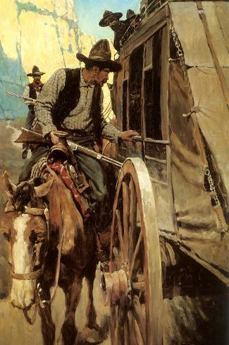 The Admirable Outlaw, 1906-Newell Convers Wyeth-Stretched Canvas Print
