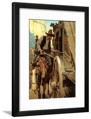 The Admirable Outlaw, 1906-Newell Convers Wyeth-Framed Art Print