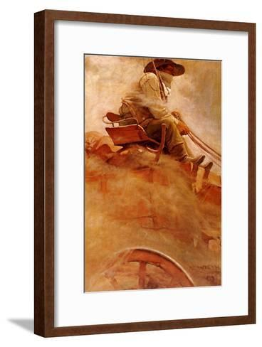 The Ore Wagon, 1907-Newell Convers Wyeth-Framed Art Print