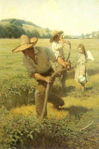 The Scythers, 1908-Newell Convers Wyeth-Stretched Canvas Print
