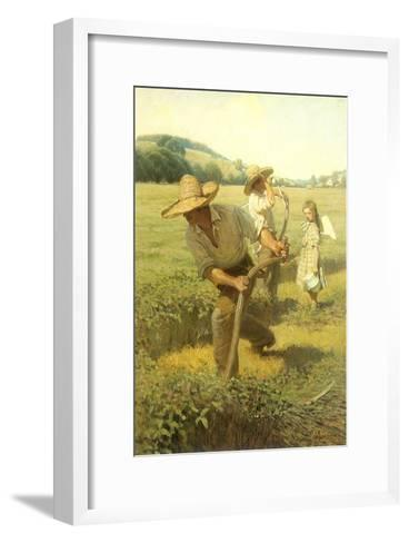 The Scythers, 1908-Newell Convers Wyeth-Framed Art Print