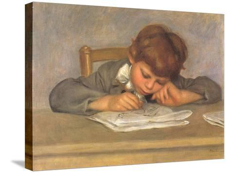 The Artist's Son Jean Drawing, 1901-Pierre-Auguste Renoir-Stretched Canvas Print