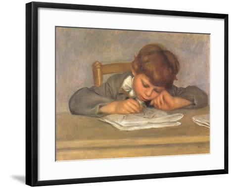 The Artist's Son Jean Drawing, 1901-Pierre-Auguste Renoir-Framed Art Print