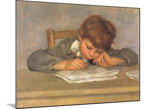 The Artist's Son Jean Drawing, 1901-Pierre-Auguste Renoir-Mounted Giclee Print