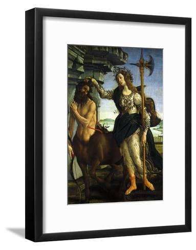Athena and Centaur, 1482-Sandro Botticelli-Framed Art Print