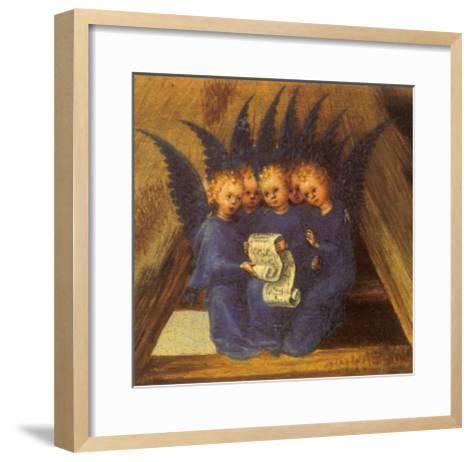 Virgin Mary Worshipping the Infant Jesus, 1435-Stephan Lochner-Framed Art Print