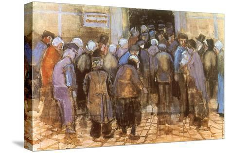 Queuing for Entrance, 1882-Vincent van Gogh-Stretched Canvas Print
