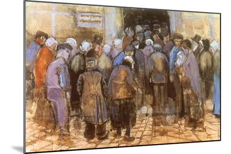 Queuing for Entrance, 1882-Vincent van Gogh-Mounted Giclee Print